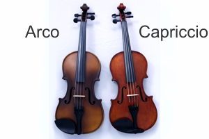 Arco and Capriccio Violins